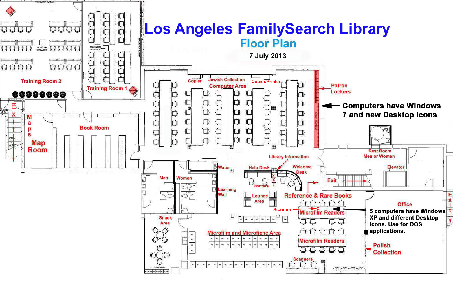 los angeles familysearch library floor plan floor plan main room